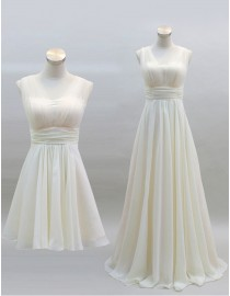 Sweetheart cream chiffon bridesmaid dress  BMD-109