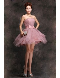 Sweetheart cameo short tulle bridesmaid dress BMD-152