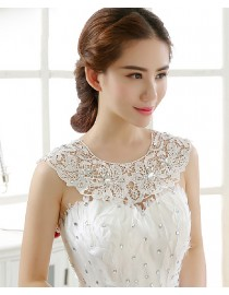Luxurious lace appliques swarovski beaded bridal wedding shoulder necklace wrap shawl HW-041