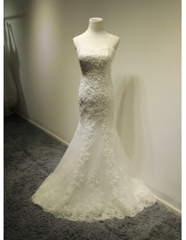 Gorgeous sweetheart lace sheath wedding dresses sequins beaded 5W-306