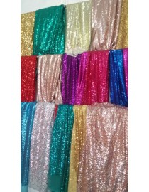 55 Inches Red blue gold pink black sliver champagne yellow purple sequins tablecloth table covers runners wedding decoration