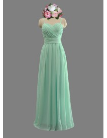Gorgeous sweetheart spaghetti straps mint green coral red bridesmaid dresses SB-061