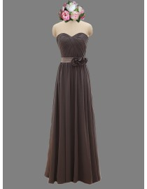 Awesome sweetheart chocolate brown bridesmaid dresses SB-065