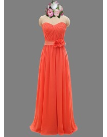 Awesome sweetheart coral red bridesmaid dresses SB-065