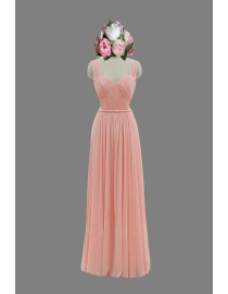 Awesome sweetheart pink straps bridesmaid dresses SB-075