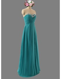 Awesome sweetheart darker turquoise blue bridesmaid dresses SB-136