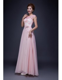 Awesome pink lace appliques bridesmaid dresses SB-137
