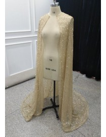 2019 new design glitter or sequins cloak cape long jacket for Muslim wedding dresses