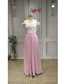 2019 new design off shoulder sheath dusty pink bridesmaids dresses