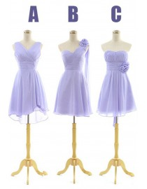 Six different design but the same color chiffon bridesmaids dresses BMD-024