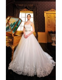One shoulder sweetheart corset tulle and lacework wedding dresses 2014 MTF-026
